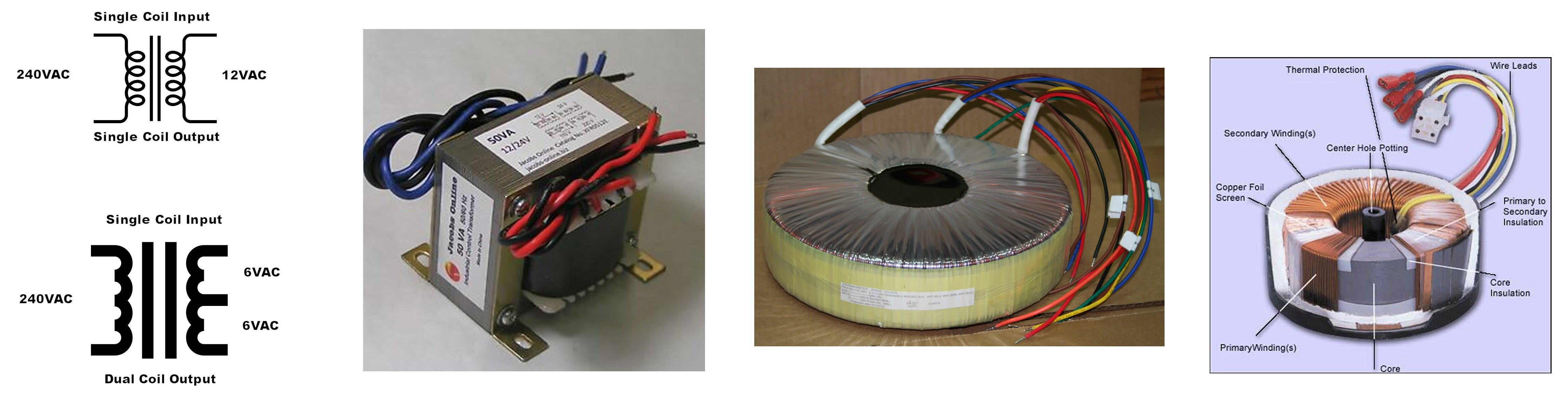 Linear Acdc Power Supply With Transformer Rectifier Smoother And Toroidal Transformers