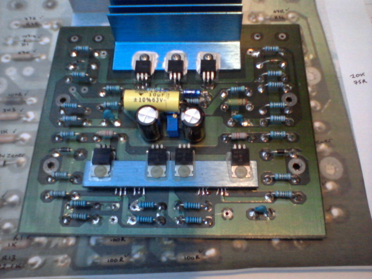 The Finished Driver Board - all new components